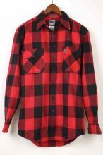 【BIGBILL】ビックビル ヘビーウェイトブラウニーフランネルシャツ レッドHeavyweight BRAWNYFLANNEL Shirt