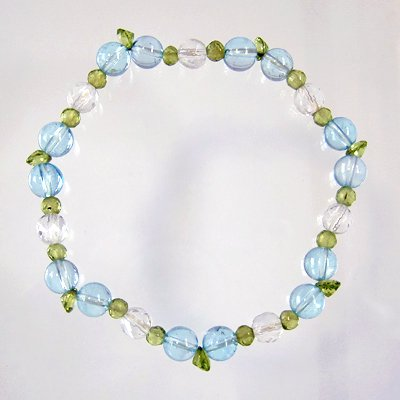 topas with peridot leaves