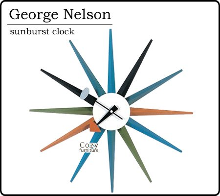 ■送料無料■George Nelson ジョージ・ネルソン サンバーストクロック 掛け時計 MU