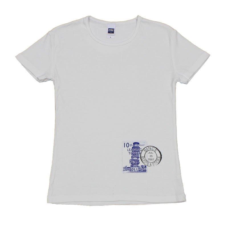 《切手Tシャツ ピサの斜塔》
