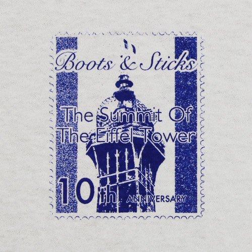 《切手Tシャツ エッフェル塔》