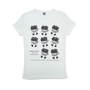 《花火缶Tシャツ》ウォーキング・黒