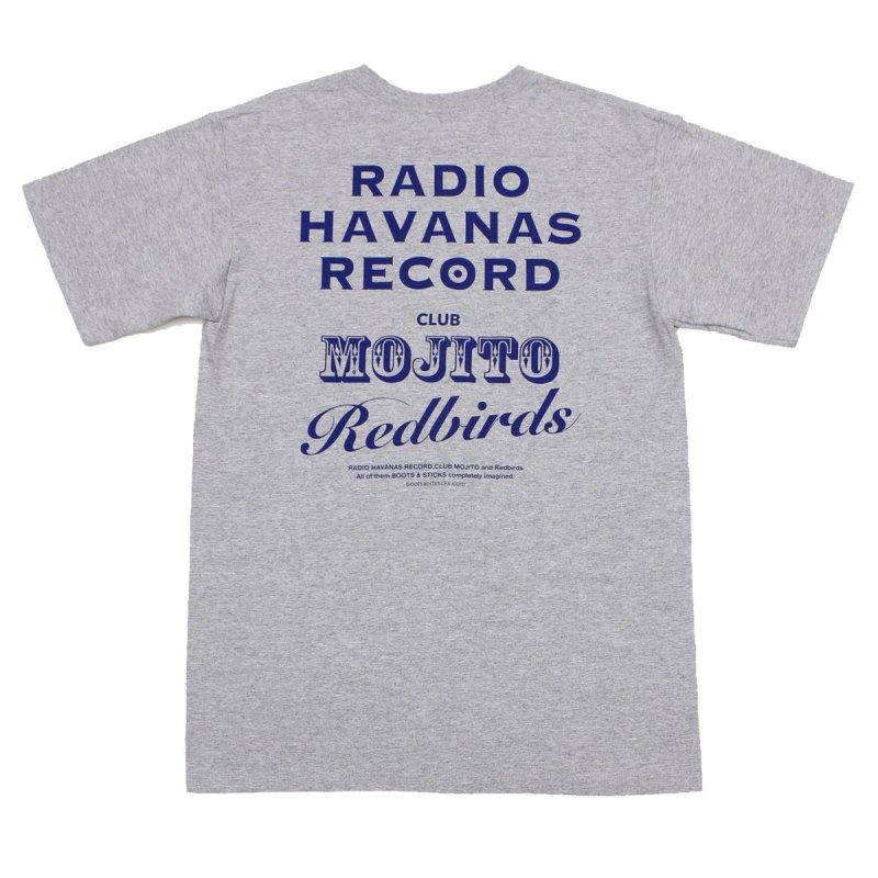 【ラジオ・ハバナス・レコードTシャツ・グレー】