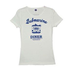 《サブマリン・ダイナーTシャツ・白+青》