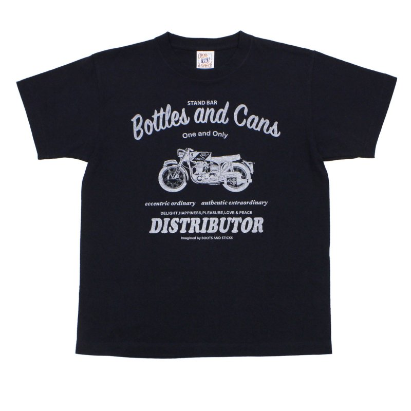 【Bottles and Cans Tシャツ・ネイビー】