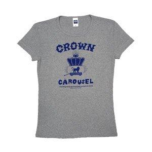 《クラウン・カルーセルTシャツ・グレー+ヴァイオレット》