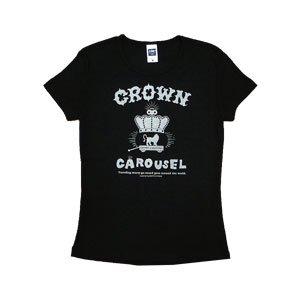 《クラウン・カルーセルTシャツ・黒》