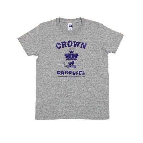 《クラウン・カルーセルTシャツ・グレー+ヴァイオレット》JSサイズ・JMサイズ