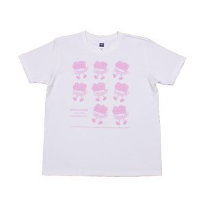 《花火缶Tシャツ ウォーキング》JSサイズ・JMサイズ ピンク 黒