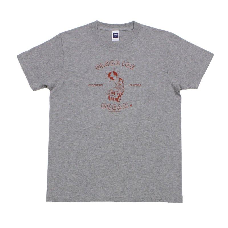 《グローブ・アイスクリームTシャツ・グレー》JSサイズ・JMサイズ 赤 青 緑