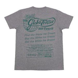 《グローブ・トロッター・ツアーTシャツ・グレー》JSサイズ・JMサイズ 赤 青 緑