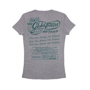 《グローブ・トロッター・ツアーTシャツ・グレー》赤 青 緑