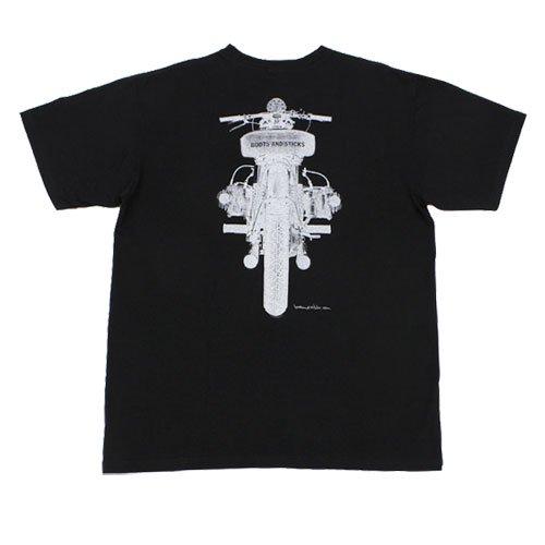 【B&Sモーターサイクルズ フラットツインTシャツ・黒】