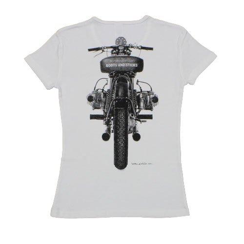 《B&Sモーターサイクルズ フラットツインTシャツ》レディースサイズ
