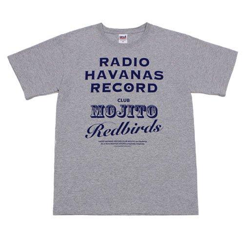 【ラジオ・ハバナス・レコードTシャツ・グレー】フロントプリント