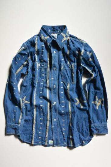 orSlow Men's Chambray Shirts Indigo PT
