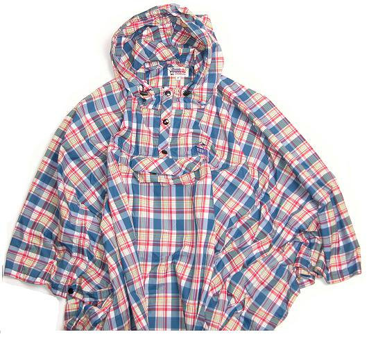 CHUMS CHECK NYLON  PACKABLE PONCHO