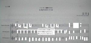 となりのトトロ/宮崎駿/久石譲(リコーダー3重奏)