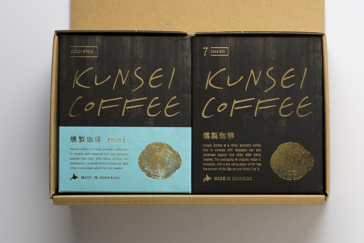KUNSEI COLD BREW &DRIP SET 2BOX [水出し用パック600cc×2 燻製珈琲ドリップパック7pack]