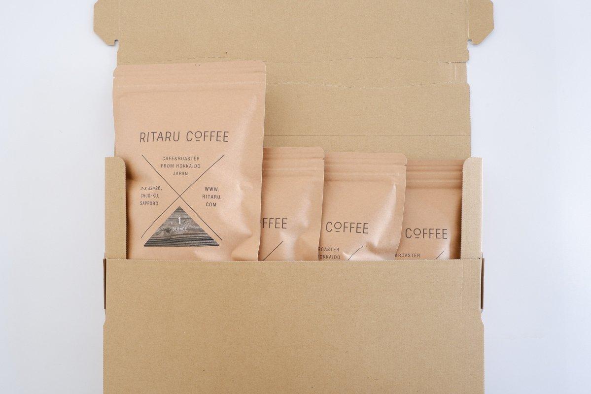 ストーレート&ブレンド4種セット 豆 or 挽き 送料無料