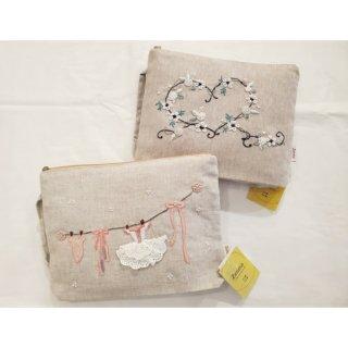 刺繍ポーチ バレエコスチューム/ハートライン
