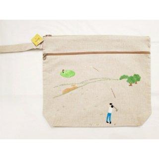 刺繍ポーチ ゴルファーMen's