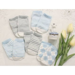 BLUE BABY BASICS SOCKSET/mud pie