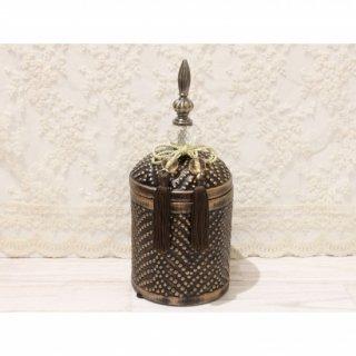 陶器ボックス/ブロンズ