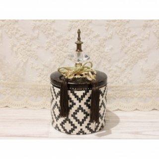 陶器ボックス・BK/WH