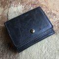 WOLF&DOG メンズ 馬革 ホースレザー三つ折り財布/小型財布