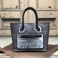 ルガトショルダーxアザラシxヌバッククロコダイルのハンドバッグ