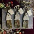 靴ベラキーホルダー クロコダイル シャンパンゴールド