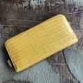 イエローのクロコダイル長財布