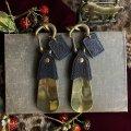 靴ベラキーホルダー カバ革 ライトグレー