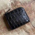 ポロサス クロコダイル L字ファスナー財布