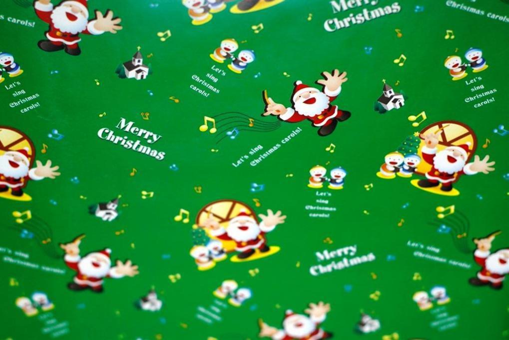 すべての講義 クリスマス ラッピング 包装紙 : 包装紙・クリスマス(緑 ...