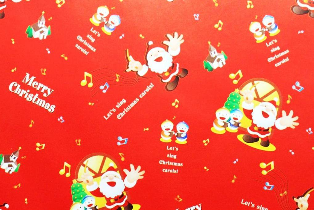 包装紙・クリスマス(赤 ...