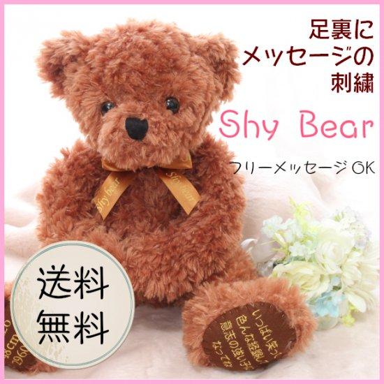 【送料無料】Shy Bear  メッセージ 1体のみ 4980円 【ブラウン】