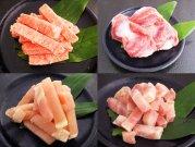 犬猫の手作りご飯におすすめの博多一番鶏肉セット「骨ごとすり身カット・砂ずり・ムネ肉・モモ肉」