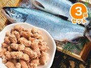 【冷凍】嵐山鮮魚 【3袋セット】鮭骨ごとパラパラミンチ 400g