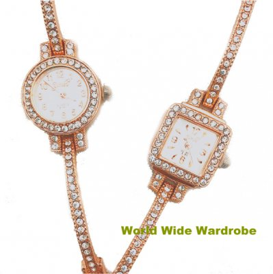 ★キラキララインストーンブレスレットおしゃれバングルブレスレットウオッチレディース腕時計