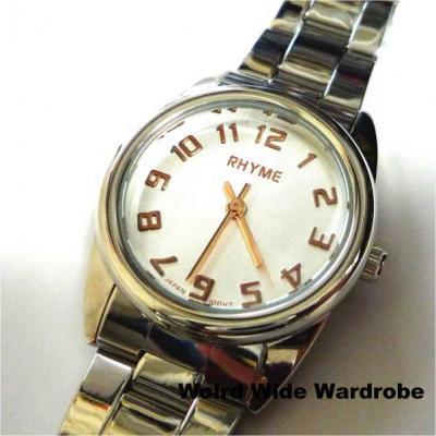 ★セール★シンプルでスタイリッシュなメタルバンド腕時計(ピンクゴールド)