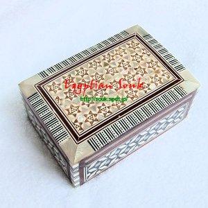 【カルトゥーシュ購入のお客様のみ購入可】エジプト貝細工・螺鈿(らでん)箱 Mサイズ【スペシャルプライス】