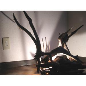 流木フロア−ランプ■LED■高さ82×巾67×奥行45cm