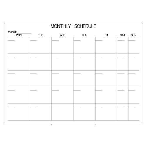 -007】MONTHLY SCHEDULE [カレンダー ...