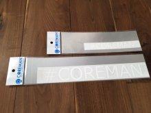 コアマン/ハッシュタグカッティングステッカー ホワイト [サイズ�] 小サイズ W140mm