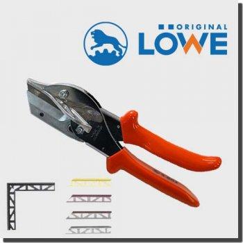 LOWE 3804 オリジナルライオンハサミ カッター建築/木工/電工/工業用万能鋏 アンビル (台形刃付きマイター鋏)
