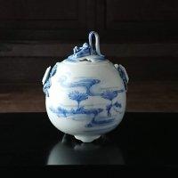 平戸菊花飾菊流水文香炉