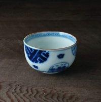 丸紋山水絵煎茶碗(大)