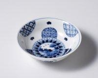 丸紋山水絵取鉢